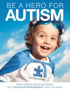 『自閉症を語り、自立する会』の「ヒーローになろう!」のポスター