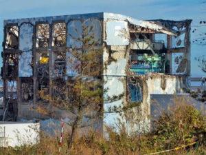 福島第一原発廃墟