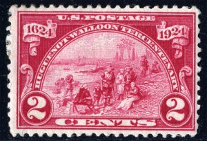 ユグノー教徒のアメリカ上陸  1924年アメリカ合衆国発行