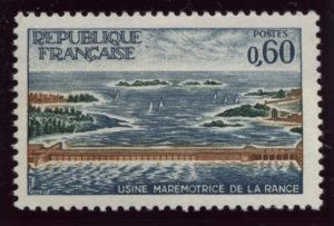 【フランス・ランスの潮力発電所完成】1966年発行