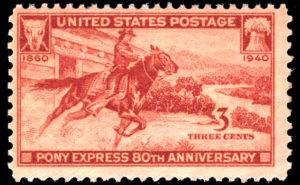 アメリカ合衆国 1940発行 ポニー・エクスプレス