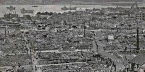 空襲後の北九州