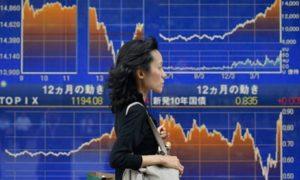 5月23日、中国の景況指標の予想外の低落を受け、日本の株価が急落しました。