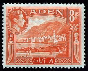 イギリス領アデン(現イエメン)1938年発行